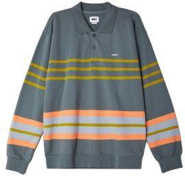 Isso Striped Polo Sweatshirt
