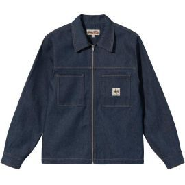 Denim Zip Up Work Shirt