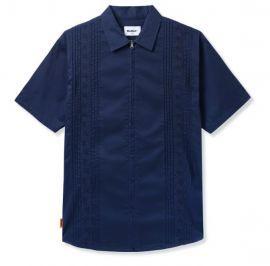 Floral S/S Zip Shirt