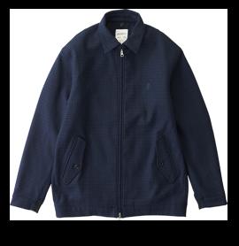 Wool Blend Short Blouson Jacket